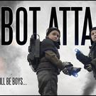 Brian Vowles spent four years producing Robot Attack starring his two sons, Brandon and Dylan (Brian Vowles/PA)