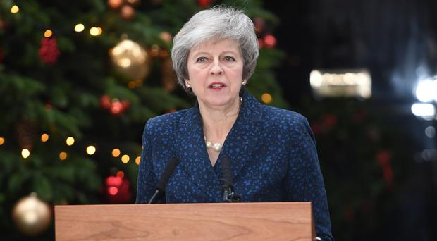 Prime Minister Theresa May makes a statement outside 10 Downing Street (PA)
