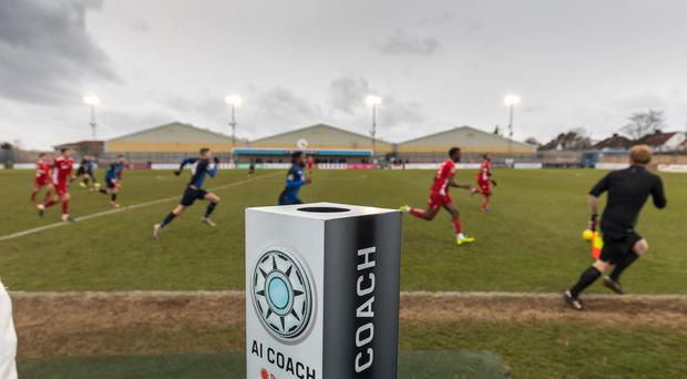 Wingate and Finchley received advice from an AI coach during their game against Whitehawk FC in the Isthmian League (Wingate and Finchley FC/The Big Bang Fair)