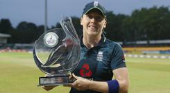 """England captain Heather Knight will be joined at training by """"Heather's Pride"""" (David Davies/PA)"""