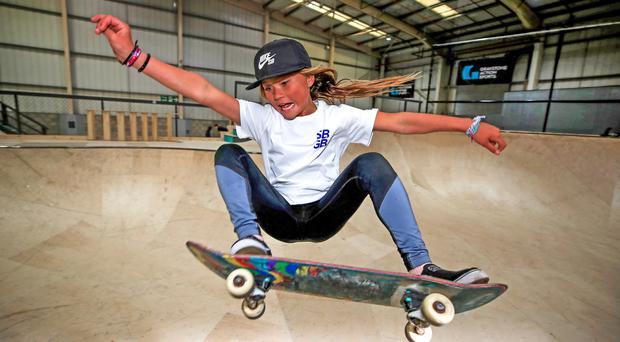Ten-year-old Sky Brown is aiming for the Tokyo Olympics (Peter Byrne/PA)