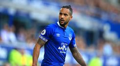 Everton's Theo Walcott during the Premier League match at Goodison Park, Liverpool (PA)