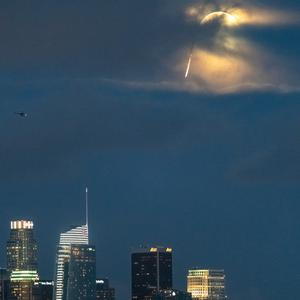 The stunt took place above central LA (Michael Clark/Red Bull Content Pool/PA)