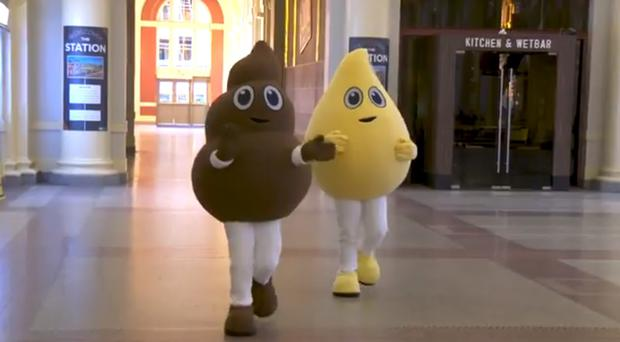 Pee and Poo made a public appearance at Waterfront Station (Metro Vancouver)