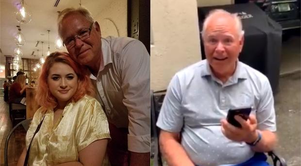 Image result for Grandfather's reaction to Lady Gaga concert tickets goes viral