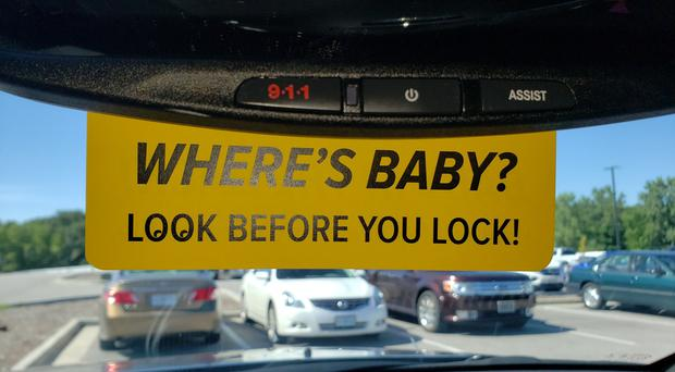 Image result for tags for children in hot cars