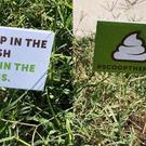 Police place flags in dog poo to encourage owners to pick up after their pets (Springfield Police Department/PA)