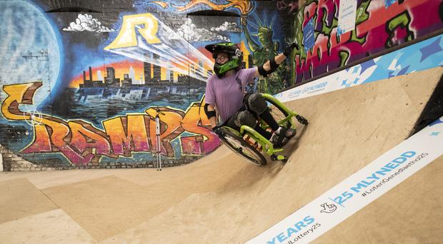 Lily Rice on Ramps skate park in South Wales (John Phillips/Getty Images for National Lottery)