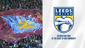 Aston Villa fans and the new Leeds club badge