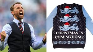 Christmas can come home with the Gareth Southgate jumper (Owen Humphreys/PA/ notjust.shop)