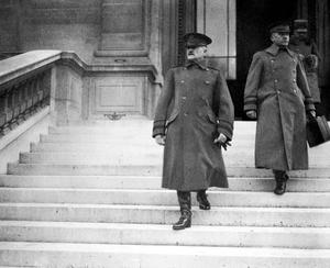 Pershing at the peace conference in Paris, 1919