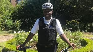 PCSO Mo Kanneh is based at Brixton police station in London (Metropolitan Police/PA)
