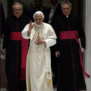 The new Vatican bank chief appointed by Pope Benedict XVI is also chairman of a shipbuilder making warships