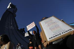 Protests have continued following the death of George Floyd (Julio Cortez/AP)