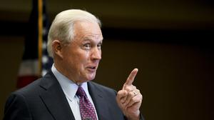 Jeff Sessions has lost a Republican primary in his home state of Alabama (Julie Bennett/AP)