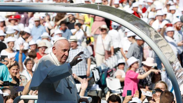 Pope Francis during his visit to Central Europe (Laszlo Balogh/AP)