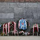 Wreaths were laid to mark the anniversary (Markus Schreiber/AP)