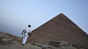 A pyramid in Giza, Egypt (Nariman El-Mofty/AP)