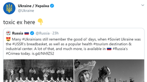 Russia had tweeted about the 'good ol' days' of Soviet Ukraine (Screengrab/Twitter)