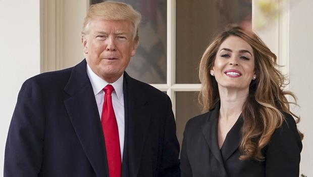 US President Donald Trump with Hope Hicks (Andrew Harnik/AP)
