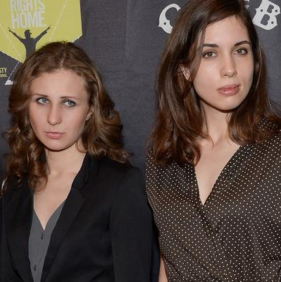 Maria Alekhina, left, and Nadezhda Tolokonnikova of Pussy Riot are said to have been detained in Sochi (Evan Agostini/Invision/AP)