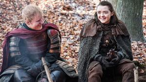 Ed Sheeran and Maisie Williams in a scene from Game Of Thrones (HBO/PA)