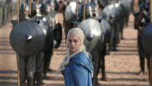 Emilia Clarke, who plays Daenerys Targaryen, in a scene from Game Of Thrones (HBO via AP)