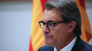 Artur Mas has been replaced as the Together For Yes alliance's candidate for regional government leader (AP)