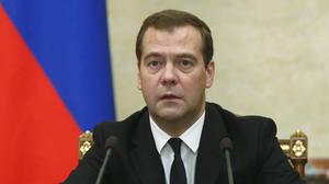 Russian premier Dmitry Medvedev (AP/RIA Novosti, Dmitry Astakhov, Government Press Service)