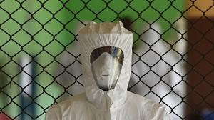 A man treated successfully for Ebola has been isolated at an Indian airport