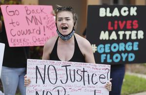 The video of Mr Floyd's death sparked a national outcry (Stephen M Dowell/AP)