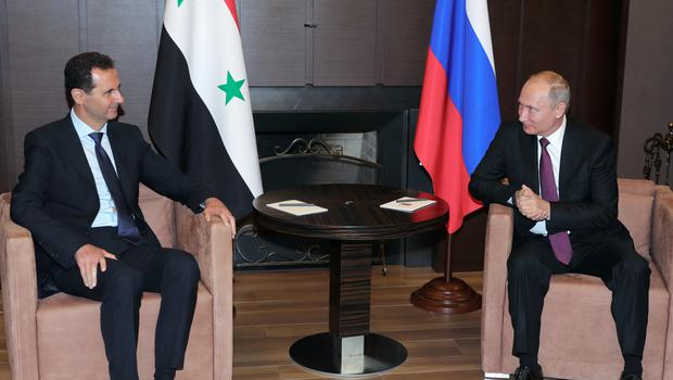 Syrian president Bashar Assad in talks with Russia's Vladimir Putin (Mikhail Klimentyev, Sputnik, Kremlin Pool Photo via AP)