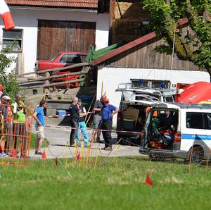 Rescuers are working to recover a man stuck deep inside a cave in Germany (AP)