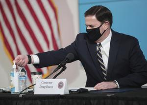 Arizona Governor Doug Ducey has ordered public schools to delay the start of classes until at least August 17 (Michael Chow/The Arizona Republic via AP, Pool)