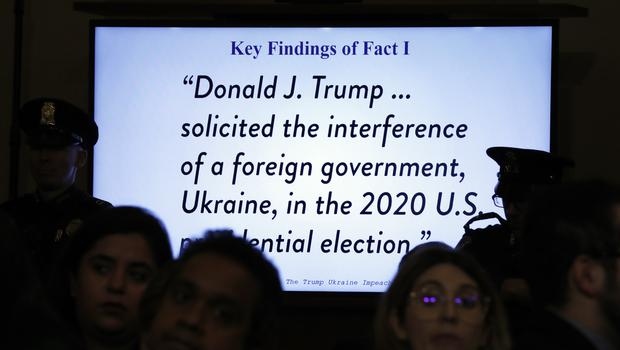 A television monitor displays a quote during a hearing before the House judiciary committee on Capitol Hill in Washington (Jacquelyn Martin/AP)