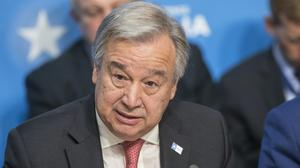 UN Secretary General Antonio Guterreshas called from greater international coordination in fighting Covid-19 (Jack Hill/The Times/PA)