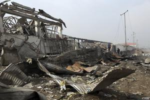 The aftermath of a recent Taliban suicide bomb attack in Kabul (AP)