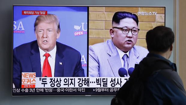 Mr Trump and Mr Kim are scheduled to meet on June 12 (AP)