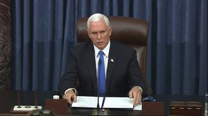 Vice President Mike Pence rejected calls to enact provisions under the 25th Amendment to remove the president (AP)