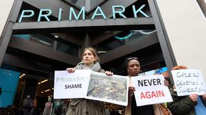 The collapse of the building in 2013 led to protests across the world, including at the Primark store on Oxford Street, central London