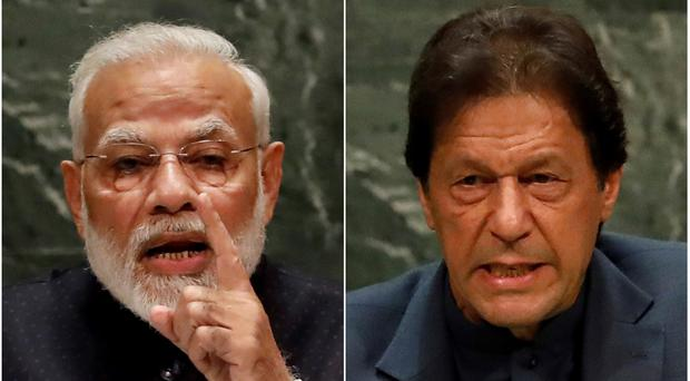 Narendra Modi and Imran Khan (AP)