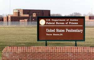 The entrance to the US Penitentiary in Terre Haute (Michael Conroy/AP)