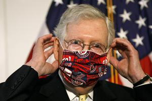 Mitch McConnell says he hopes a package can be agreed 'in the next few weeks' (Jacquelyn Martin/AP)