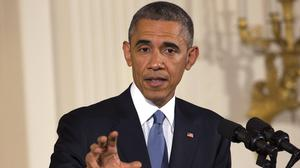 "Barack Obama says it is ""an open question"" whether international negotiators and Iran can reach a deal over Tehran's nuclear programme. (AP)"