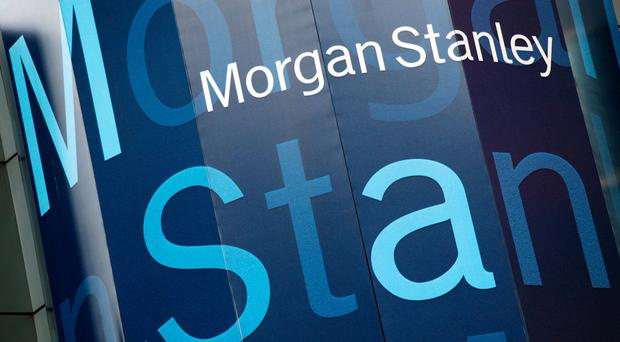 The Morgan Stanley logo is displayed on its Times Square building, in New York (Mark Lennihan/AP)