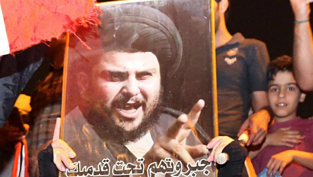 Shiite cleric Muqtada al-Sadr is the front-runner in national elections (AP Photo/Hadi Mizban)