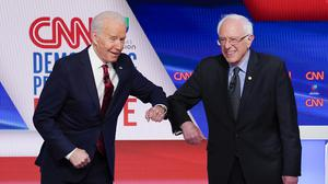 Joe Biden and Bernie Sanders (AP)