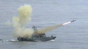 A Taiwanese navy frigate launches a Harpoon surface-to-surface missile during a training drill. The US has announced a new missile deal with Taiwan which is expected to inflame Sino-American tensions (Wally Santana/AP)