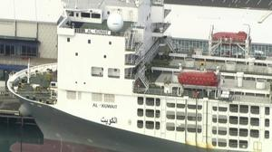 The freight ship in Fremantle (AuBC/CHANNEL 7/CHANNEL 9/AP)