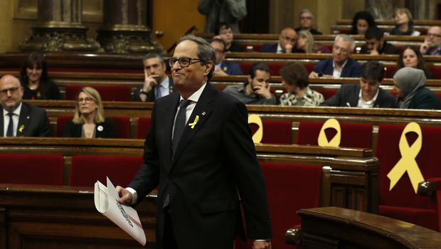 Quim Torra was elected by Catalan MPs (AP)